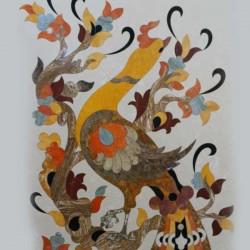 سنگ لابی معرق طاووس