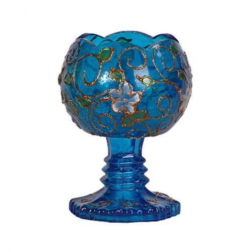 چراغ شمعی دالبر آبی