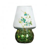 چراغ شمعی شیشه ای سبز