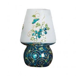 چراغ شمعی شیشه ای آبی