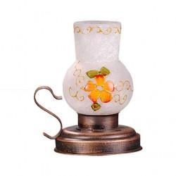 چراغ شمعی فانوسی نارنجی