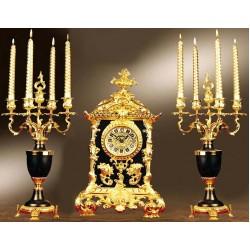 ساعت و شمعدان باستانی مشکی