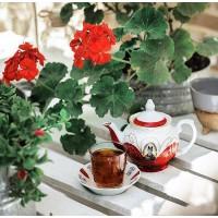 قوری گل قرمزی شاه عباسی