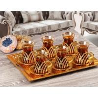 سرویس چای خوری ترکیه ای طلایی
