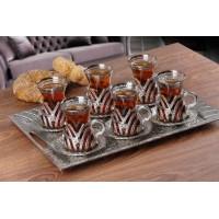 سرویس چایخوری ترکیه ای نقره ای
