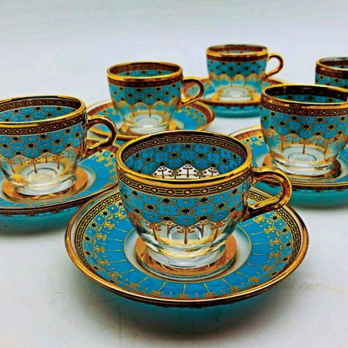 فنجان چای خوری بلور ترکیه ای