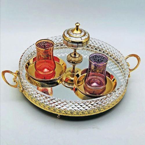 سرویس چای خوری ترک طلایی