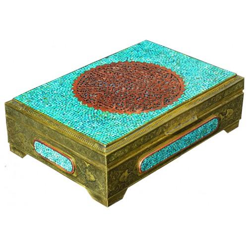 جعبه قرآن فیروزه کوب 029