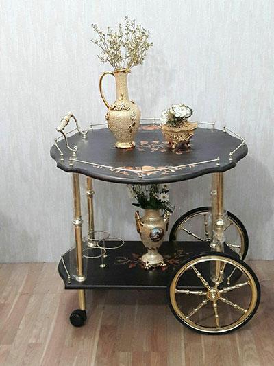 میز بار طلایی