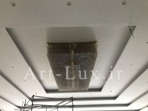 فیلم روش نصب لوستر سقفی