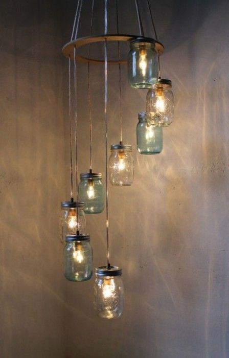ساخت لوستر با بطری شیشه ای