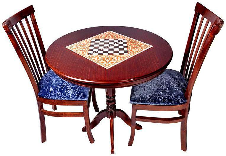 میز و صندلی با رویه جیر ترک