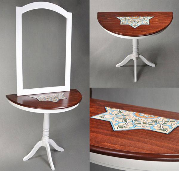 میز کنسول پذیرایی سفید