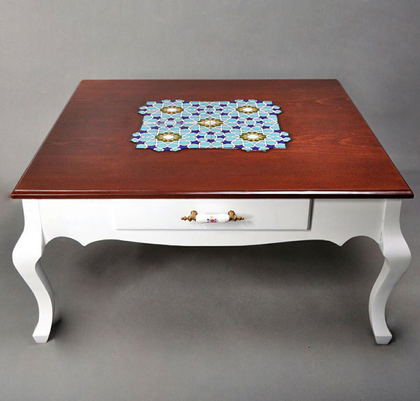 میز کشو دار جلو مبلی