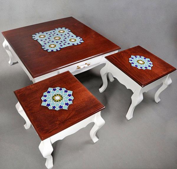 انواع میز عسلی سفید