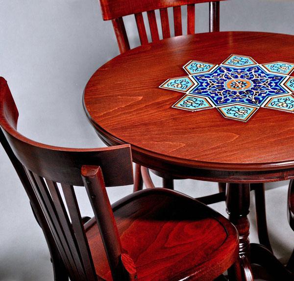 میز ناهار خوری گرد سه نفره