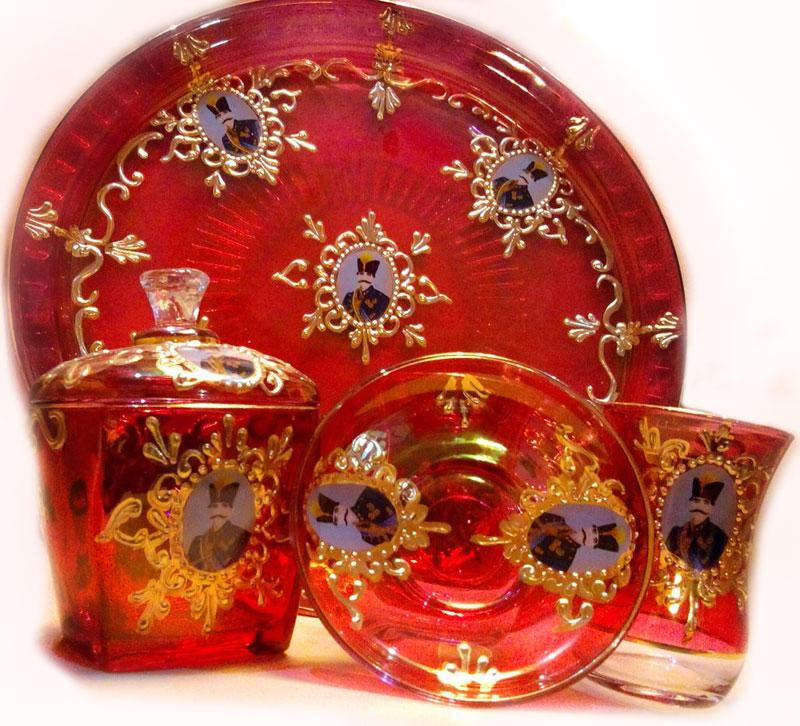سرویس چای خوری سنتی شاه عباسی درجه 2