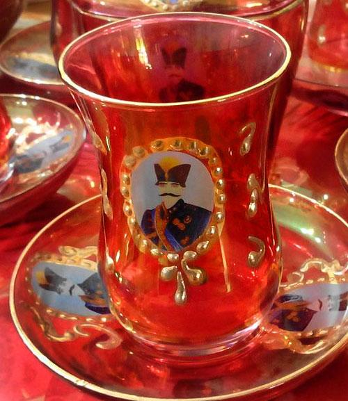 استکان نلبکی چای خوری سنتی شاه عباسی درجه 2