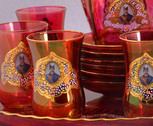 سرویس چای خوری شاه عباسی قرمز درجه یک