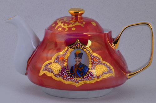 قوری چایخوری شاه عباسی قرمز درجه یک