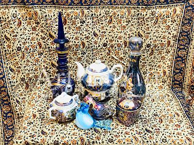 قیمت ظروف شاه عباسي سورمه ای