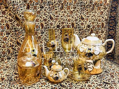 فروش ظروف شاه عباسي طلایی