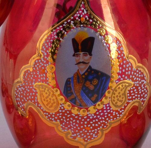 بطری شیشه ای شاه عباسی