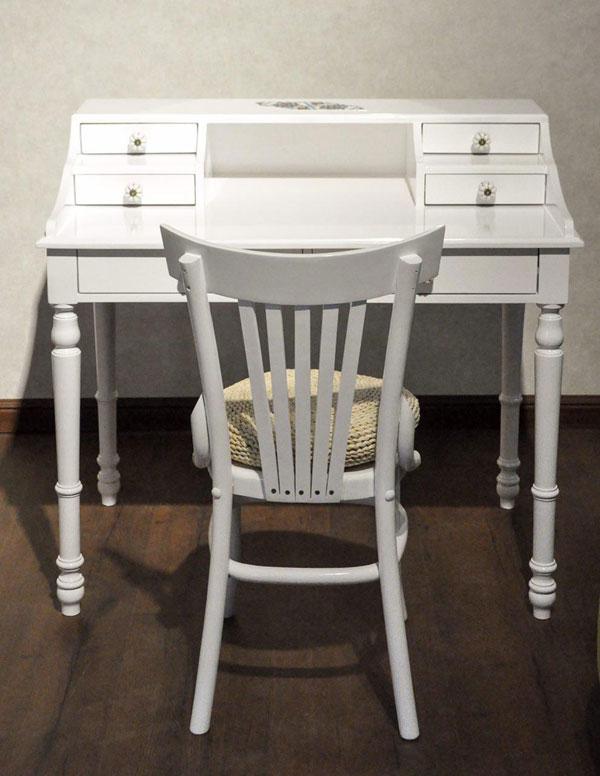 میز تحریر کشو دار سفید