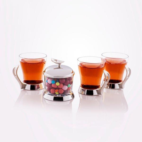 خرید سرویس چای خوری استیل