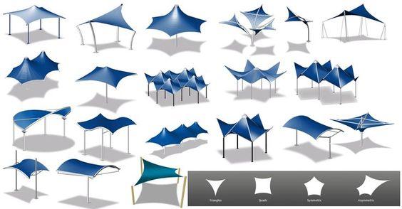 طراحی سایبان سازه چادری