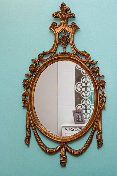 آینه منبت از چوب راش