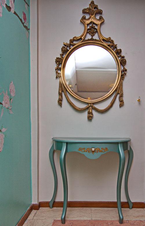 آینه و کنسول منبت