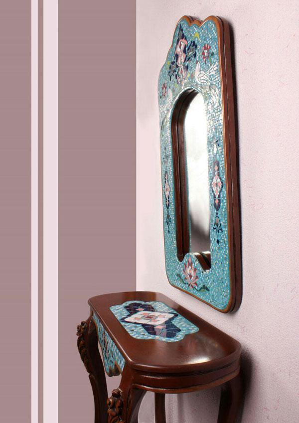انواع آینه و کنسول چوبی