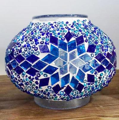 حباب آبی لوستر ترکیه ای