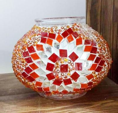 حباب نارنجی لوستر تركيه
