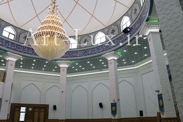لوستر برنزی مسجدی