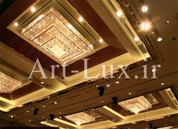لوستر برای سقف مستطیلی تالار