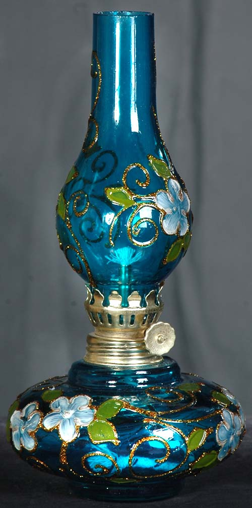 چراغ نفتی آبی کوچک