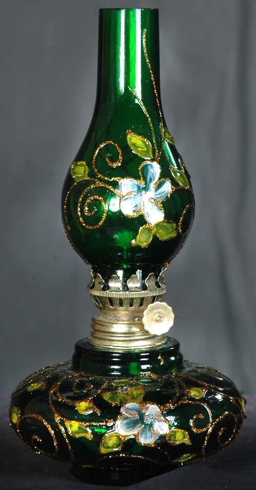 چراغ نفتی کوچک سبز