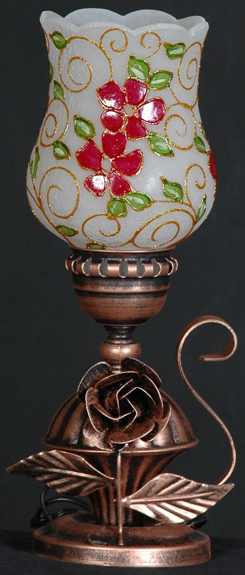 چراغ رومیزی گل رز