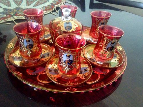 سرویس چای خوری کمر باریک شاه عباسی