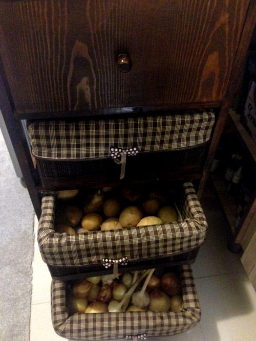 سبد چند طبقه جا سیب زمینی پیاز