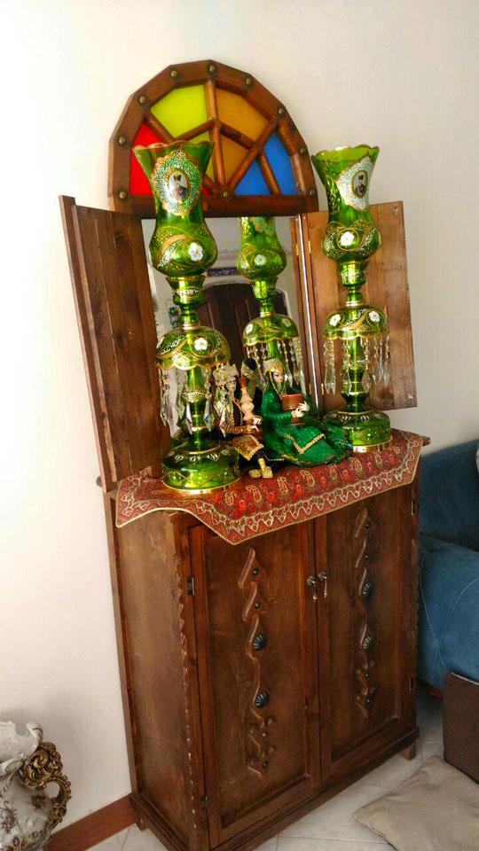 خرید شمعدان شاه عباسی سبز در تهران