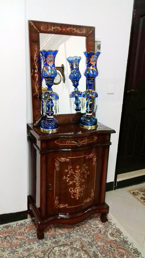 شمعدان شاه عباسی آبی کاربنی
