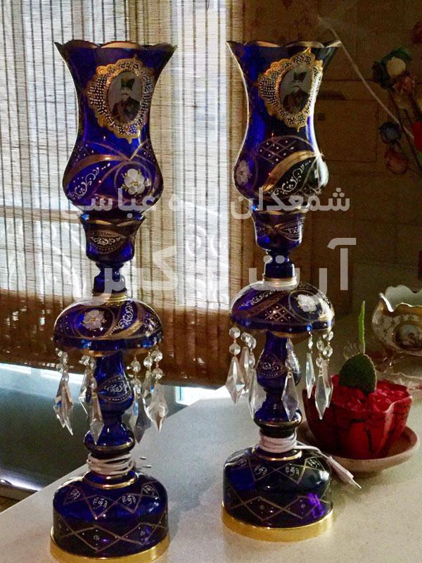 خرید شمعدان شاه عباسی آبی کاربنی در تهران