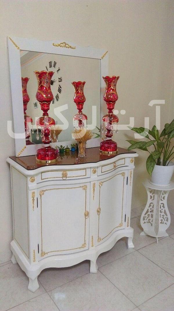 شمعدان شاه عباسی برای میز کنسول