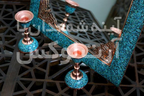خرید شمعدان فیروزه کوب در تهران