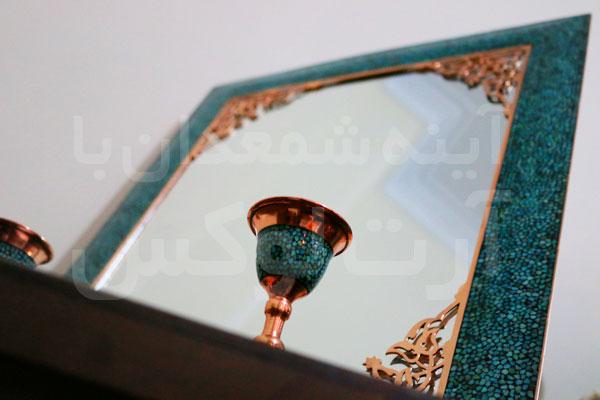 مدل آینه و شمعدان فیروزه کوب