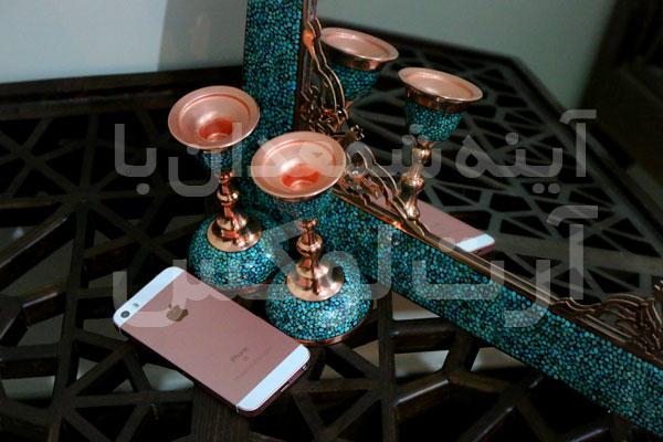 خرید آینه شمعدان نقره اصفهان در تهران