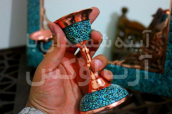 خرید آینه شمعدان فیروزه کوبی در تهران